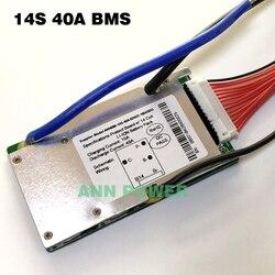 Bms 14 s 48 v 20a, 30a e 40a da bateria do li-íon de 14 s bms para 14 s 51.8 v 500 w-2000 w bateria do íon de lítio com função do equilíbrio