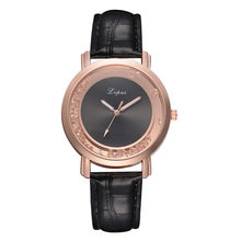New Hot Sale Female watches Women's Girls Fashion Casual Quartz Leather Band Watch Analog Wrist Watch Female Clock Dropship(China)