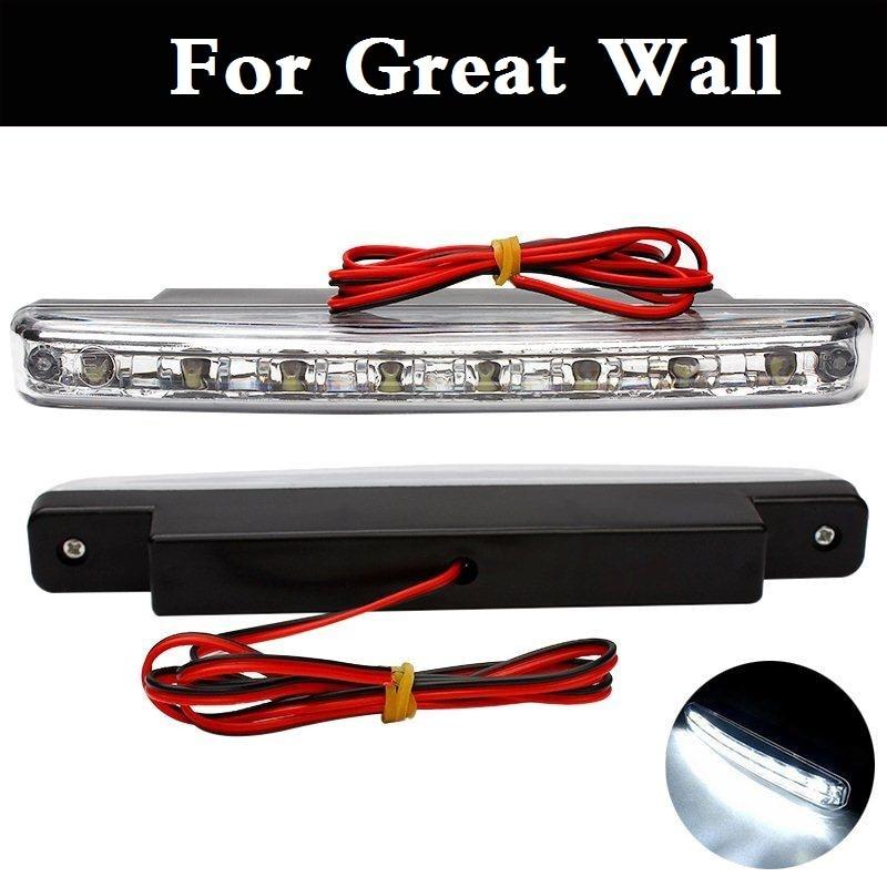 8 12 V LED DRL Brouillard Lampe DC De Voiture Feux de jour Pour grande Muraille Coolbear Fleuri Hover Hover H3 Hover H5 H6 Voleex C10 C30