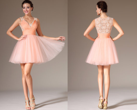 Fashion Semi Formal Dress Coral 8th Grade Graduation Dresses 2014