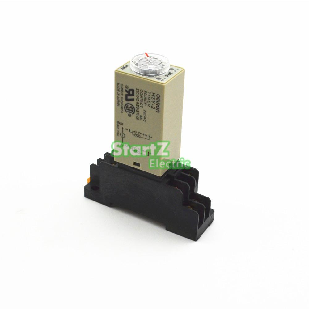 US $3.6 5% OFF|H3Y 2 DC 24V Delay Timer Time Relay 0 60 Minute with Omron H Y Timer Relay Wiring Diagram on
