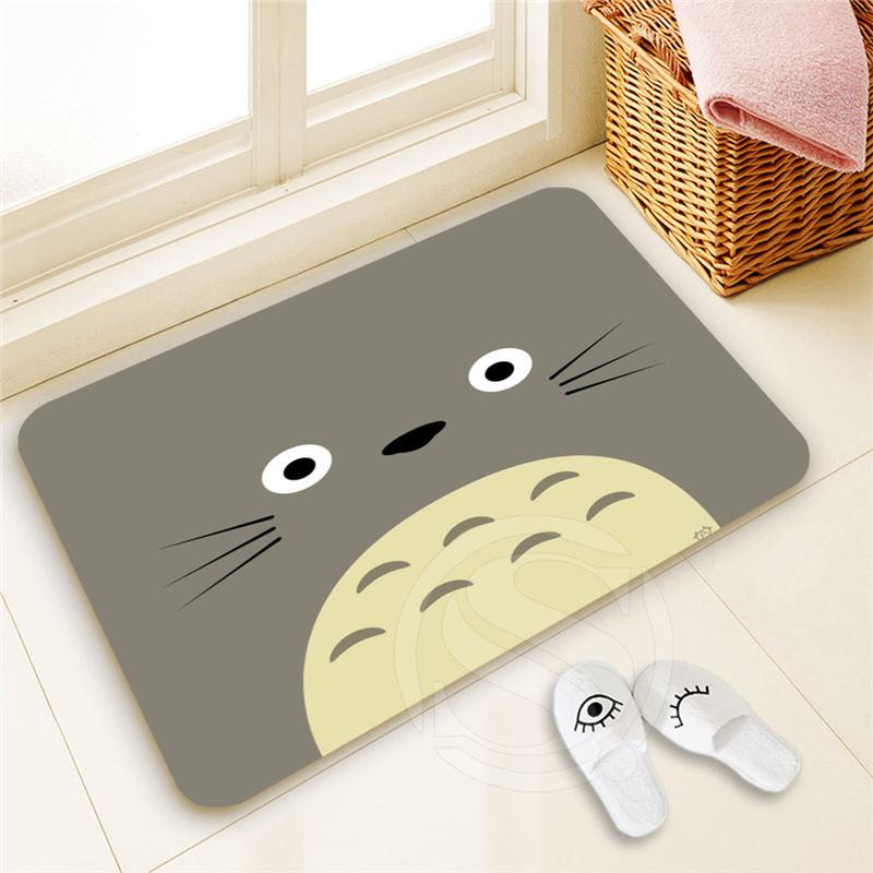Best Nice Custom Totoro Doormat Home Decor 100% Polyester Pattern Door mat Floor Mat foot pad SQ00722-@H0712
