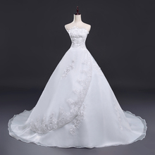 Vintage Belt Long Train Wedding Dress