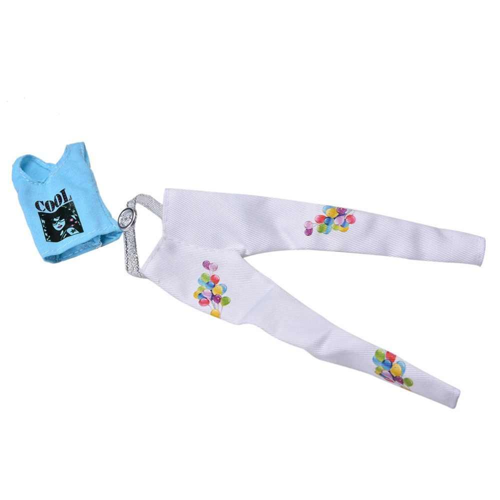 """HOT POP ฤดูร้อนสีฟ้าเสื้อกั๊กกางเกงสูทสีขาวสำหรับตุ๊กตา 11 """"ตุ๊กตา 2 ชิ้น/เซ็ต"""