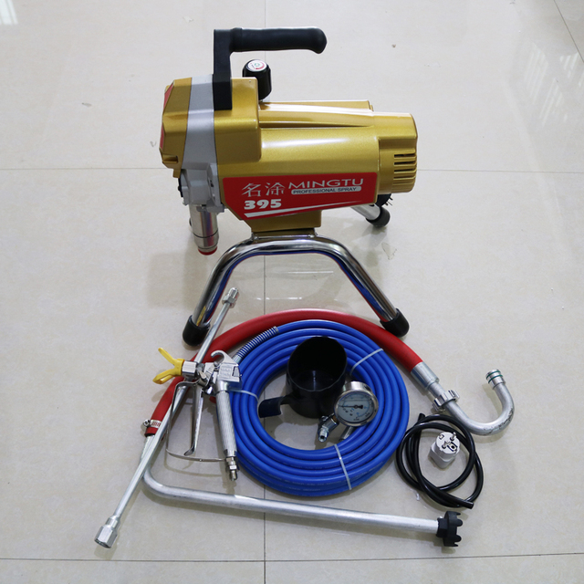 2018 New Profesional Electric Airless Paint Sprayer Piston Painting Machine 395 With 2000w Motor Factory Ing Directly