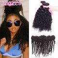 Brazilian Virgin Hair with bundles Lace Frontal Closure With Bundles Brazilian Deep Wave With Closure Human Hair With Closure