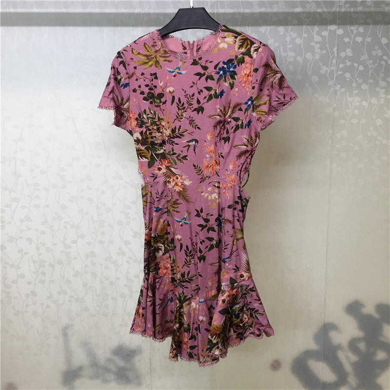 Mini Dress for Women Short Sleeve Backless Fashion Lady 2018 new Summer Sexy