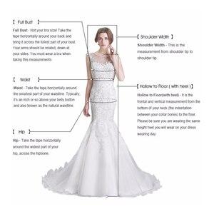 Image 5 - Stunning Satin Wedding Dress 2020 Swanskirt Beaded A Line Crystal Belt Court Train Bridal gown Illusion Vestido de noiva VY01