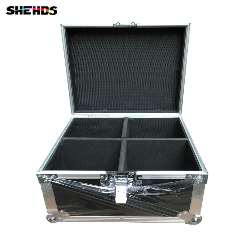 Flight Case with 2/4 pieces LED Beam+Wash Double Sides  4 x10W + 1 x10W Lighting for Disco KTV Party Fast Shipping,SHEHDS flight volume 4
