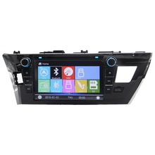 High Quality Bluetooth RDS GPS Navigation For Toyoto 2014 Corolla Steering Wheel Control Multimedia Touch Screen Free Map Video
