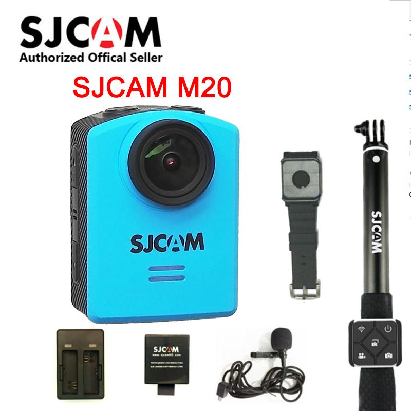 Prix pour D'origine SJCAM M20 Wifi Gyro Sport Action Caméra HD 2160 P 16MP 4 K Étanche DV montre Bluetooth retardateur levier à distance contrôle