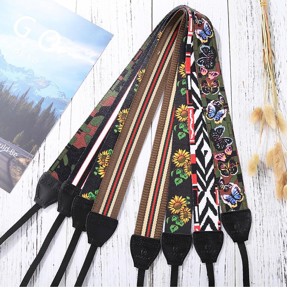Jumpflash Universal Bohemian Style Retro Ethnic Style Multi-color Camera Shoulder Neck Belt for SLR DSLR Digital Camera Strap