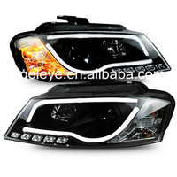 For Audi A3 LED Head Light 2008 TO 2012 Year Black Housing SN