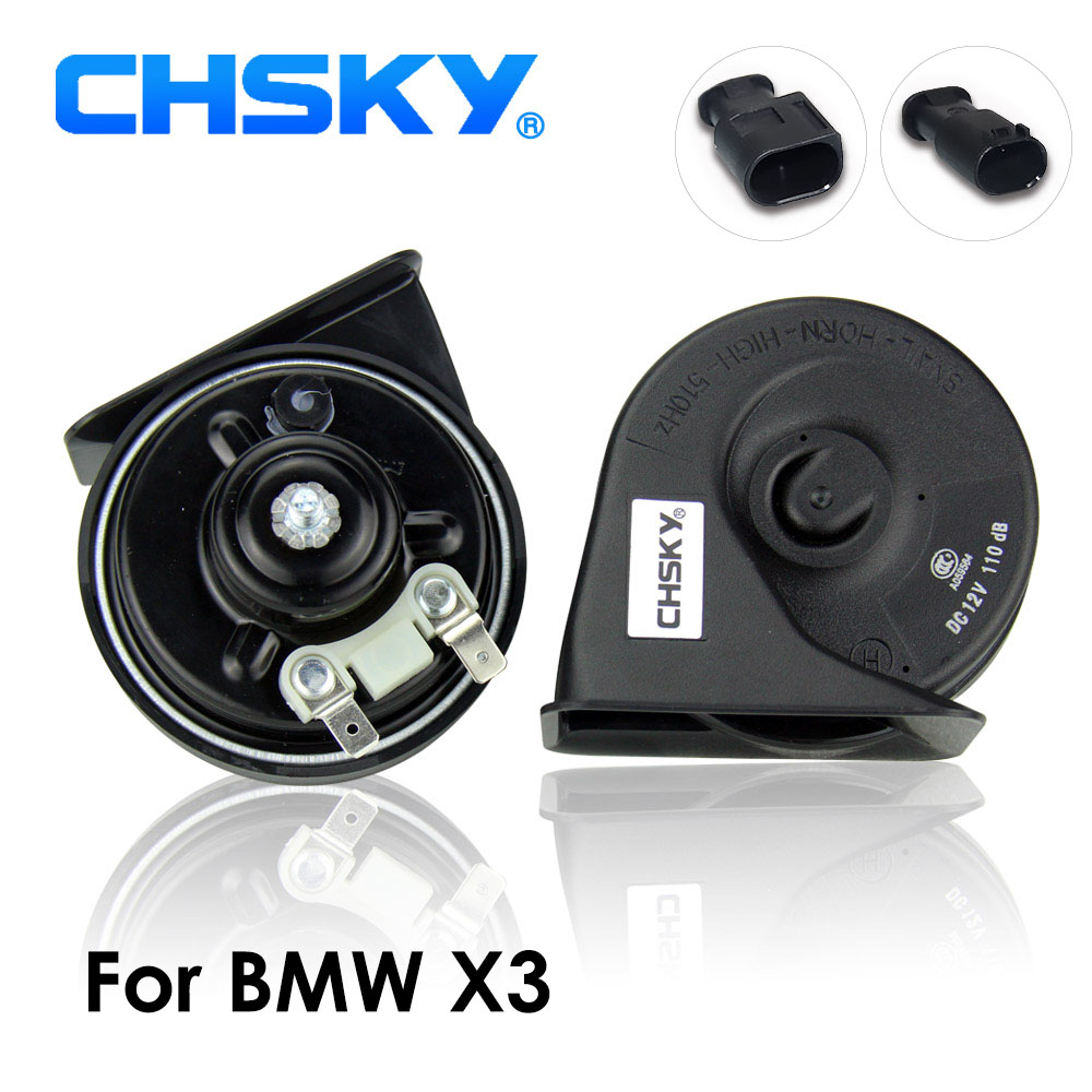 CHSKY Car Horn Snail type Horn For BMW X3 E83 F25 G01 12V Loudness 110-129db Auto Horn Klaxon