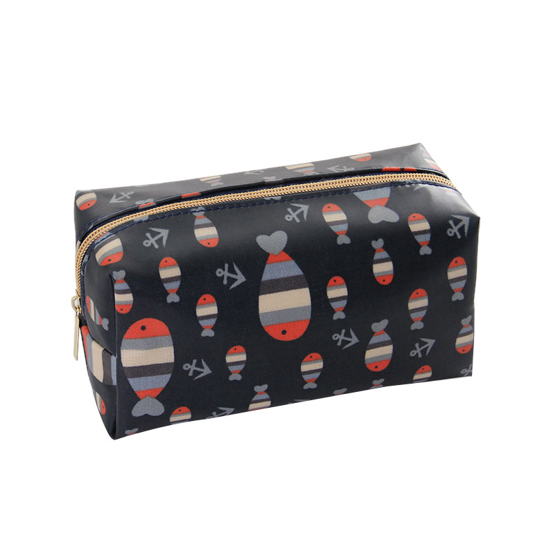1 Pc Cartoon Cosmetic Bag Pattern Women Make Up Bag Travel Toiletry Bag