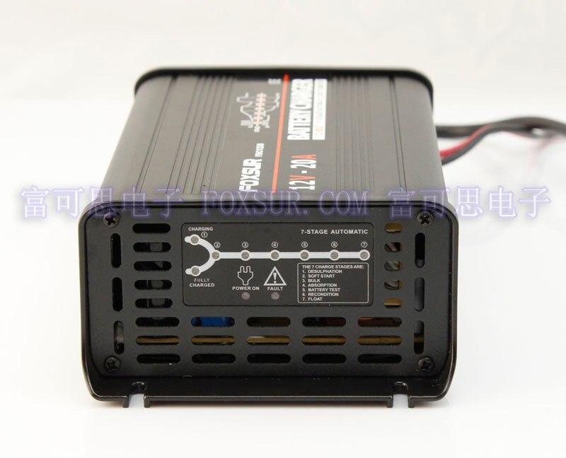 FOXSUR 12 V 20A Automatique Intelligent Chargeur de Batterie, responsable et Desulfator pour Batteries Au Plomb-Acide, Chargeur de Batterie de voiture SALUT-Qualité