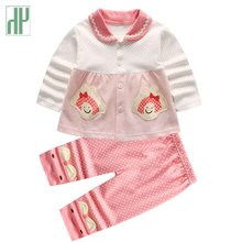 2019 spring fall Newborn Baby clothes girl Outfit Clothes Tracksuit Toddler t-shirt+pants 2pcs Sport suit cotton infant clothing