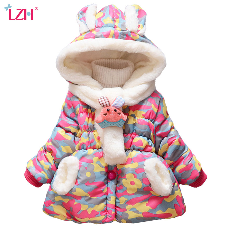 Baby Girls Jacket 2018 Autumn Winter Jacket For Girls Coat Baby Kids Warm Cotton Outerwear Coat For Boys Jacket Children Clothes 2018 winter children boys parka jacket kids thicken warm 90% cotton camouflage hooded coat baby boys girls casual outerwear