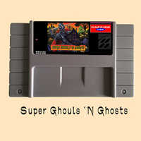Super Ghouls 'N Ghosts 16 bit Big Gray Game Card For USA NTSC Game Player