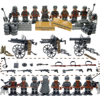 WW2 Mini Brick Compatible Legoinglys Military Army SWAT Soilders Building Blocks Sets With Weapons Accessories Toys