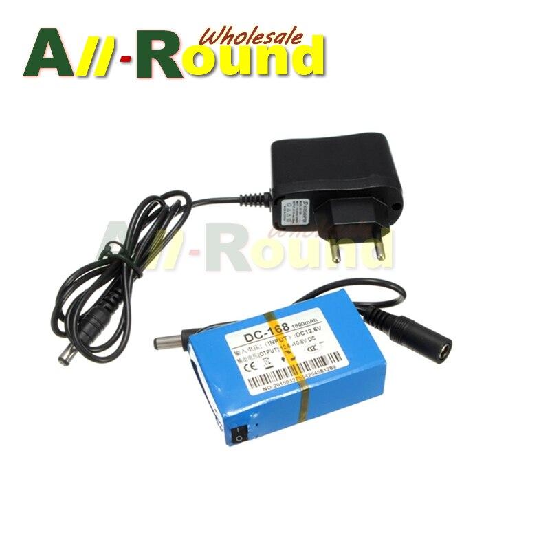 En gros gratuit shipping10pcs/lot DC 168 Super Portable Rechargeable Au Lithium ion Batterie UE/US Plug pour DC 12 V 1800 mAh-in Batteries rechargeables from Electronique    1