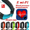 P1 Smartband Monitor de Presión Arterial Monitor de Ritmo Cardíaco de Bluetooth Pulsera Pulsera Inteligente Usable 0.86 OLED IP67 A Prueba de agua