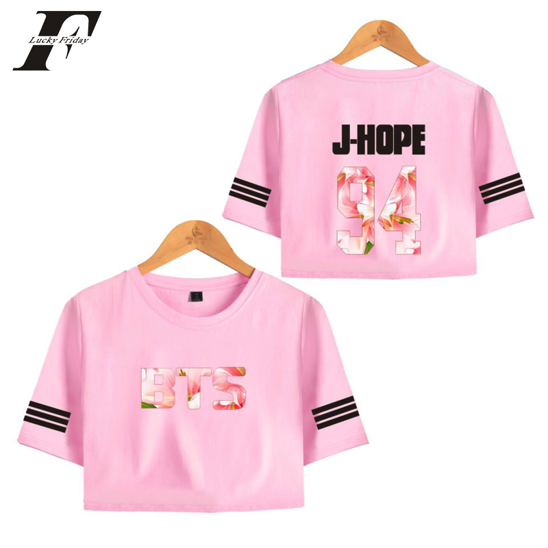 LUCKYFRIDAYF 2018 BTS LOVE YOURSELF Summer bts Kpop T-shirts tee Tops Short Sleeve T-shirt Women Fitness clothing Summer