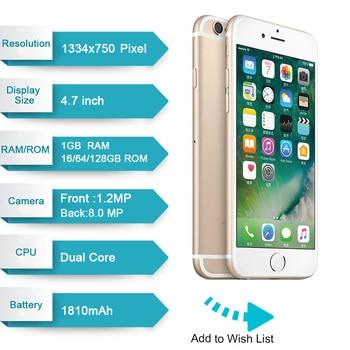 Unlocked Apple iPhone 6 IOS Dual Core 1.4GHz 1GB RAM 16/64/128GB ROM 4.7 inch 8.0 MP Camera 3G WCDMA 4G LTE Used Mobile phone 2