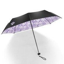 New Quality Fashion Flower Sunny and Rainy Umbrella Folding Sun Protection Anti UV Parasol Windproof Men Women
