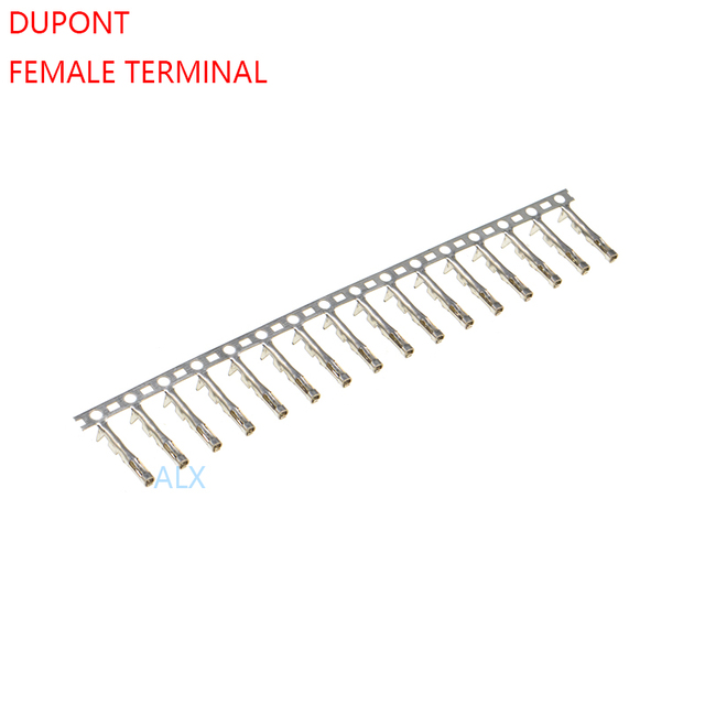 200pcs dupont reed DUPONT housing female terminal FOR 2.54MM PITCH dupont CONNECTOR FOR JUMPER WIRE CABLE Pins Crimp