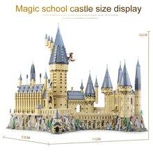 2018 educativos 16060 Harry magia Potter Hogwarts Castillo La escuela Compatible Legoing 71043 bloques de construcción ladrillos juguetes educativos modelo