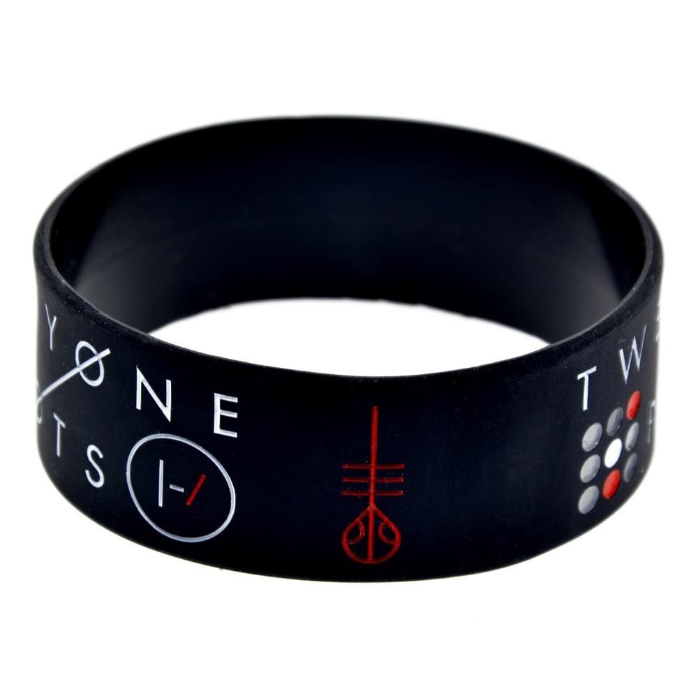 OneBandaHouse 1PC 1 tums brett armband för musikfläktar Present - Märkessmycken - Foto 3