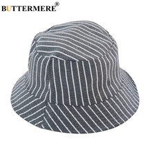 56bc54fdaf1 BUTTERMERE Cotton Bucket Hat Child Stripe Gray Fishing Hat With Uv  Protection Kids Foldable Bowknot Casual · 5 Colors Available