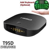 T95D TV Box Rockchip RK3229 Quad Core Android 6 0 TV Box RAM 1GB DDR3 ROM
