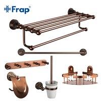 Frap под старину Аксессуары для ванной комнаты наборы Резные Ванная комната оборудование устанавливает Европейский Ванная комната Продукты