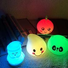 Семицветный теплый цветной светодиодный светильник для детей, спящих с ночным фонарем обесцвечивание и декомпрессия