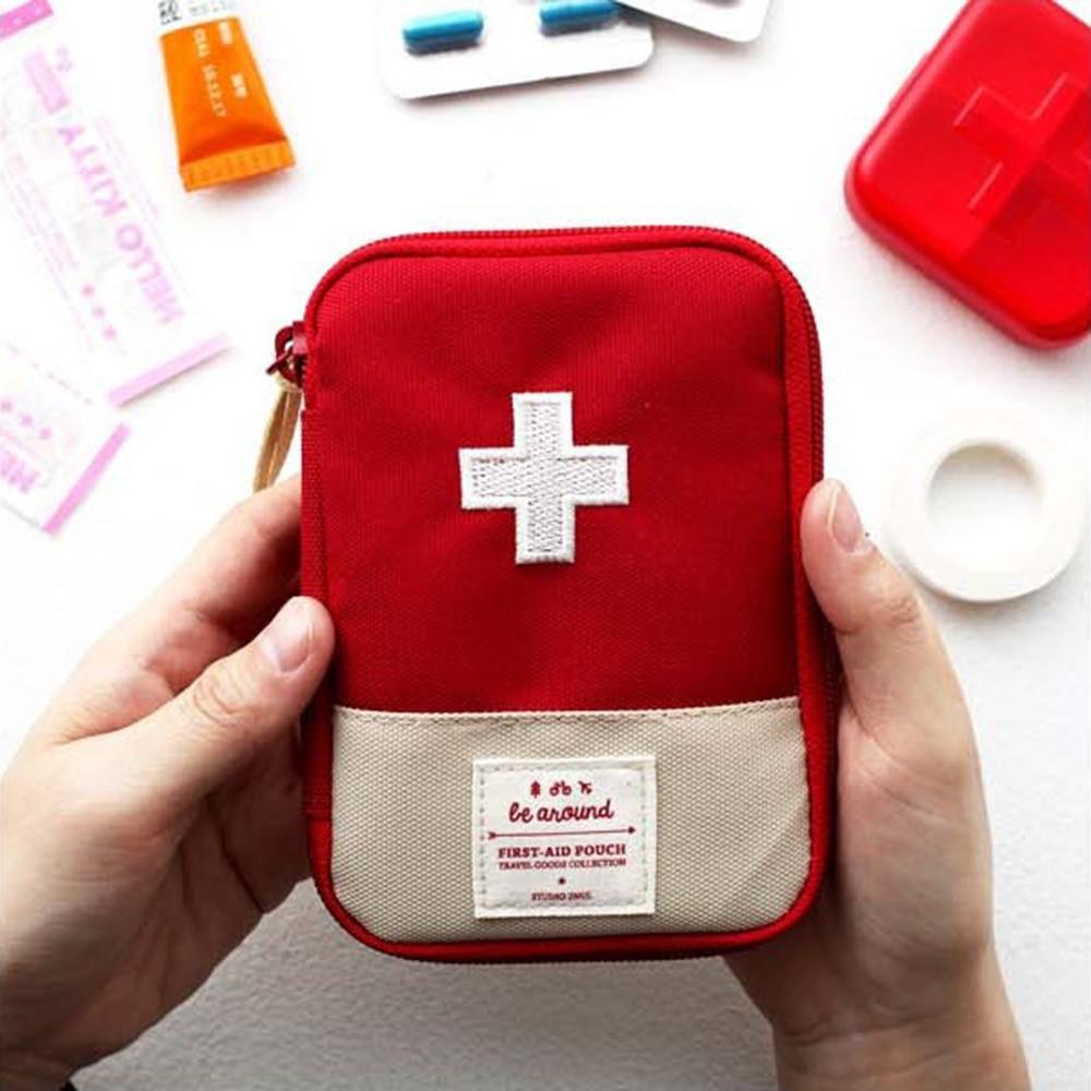 Открытый первой помощи Аварийная Аптечка медицина лекарств Pill Box дома Автомобильная Аптечка появляются случае Малый 600D Оксфорд чехол