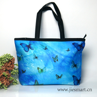 butterfly blue bags for women 2018 tote bag customized products very light shoulder bag designer handbag M