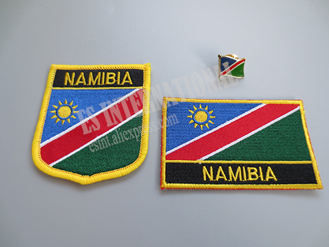 NAMIBIA Namibian Country Flag Embroidered PATCH Badge *NEW*