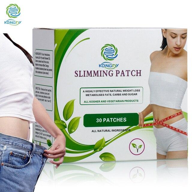 KONGDY מותג בריאות Slim תיקון 60 חתיכות = 2 קופסות שומן מבער הרזיה טבור מקל תיקוני הרזיה לדיאטת משקל אובדן