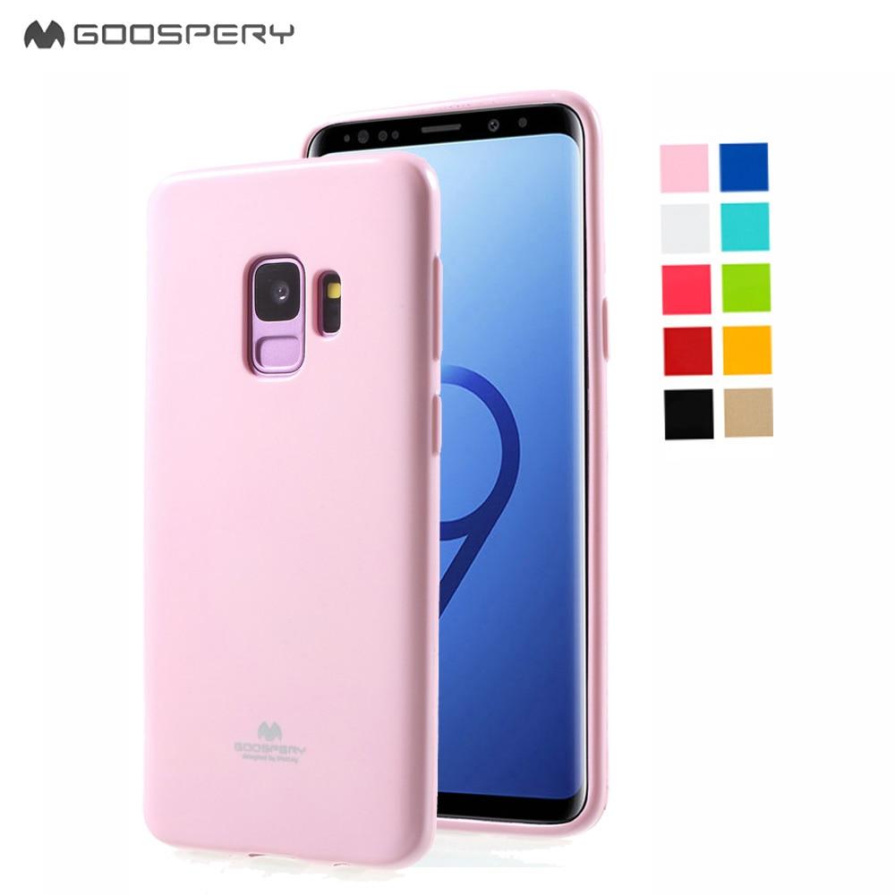Original Mercury Goospery Soft Feeling Jelly Matt Rubber Cell Phone Samsung Galaxy S7 Edge Case Midnight Blue S9plus Flash Powder Gel Tpu Back Cases For