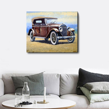 Laeacco Abstract Car Modern Wall Art Vintage Posters and Prints Nordic Canvas Painting Living Room Bedroom Home Decor