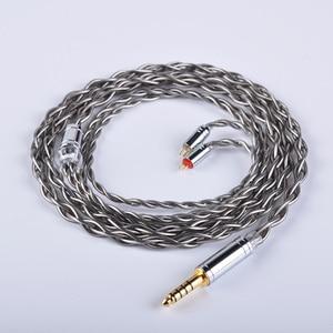 Image 4 - Yinyoo 4 núcleo 7n único cabo de cobre cristal 2.5/3.5/4.4mm occ prata chapeado cabo com conector mmcx para a lata as10 t2 t3 c16