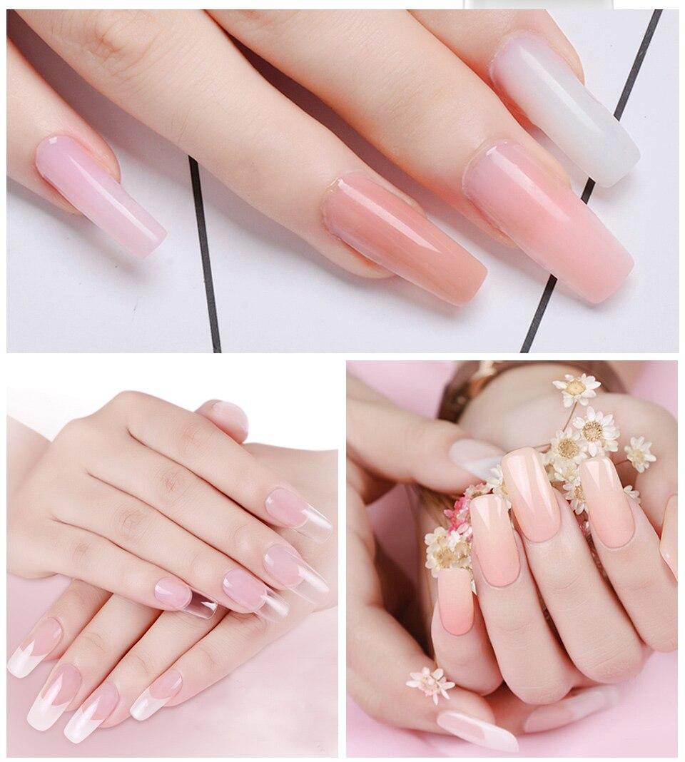 Gelike 60g PolyGel Poly Gel Soak Off Gel PolishNail Enhancement System French Pink Manicure Jelly Acrylic Poly Gel in Nail Gel from Beauty Health