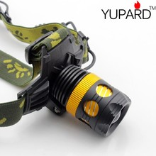 YUPARD XM-L T6 LED Waterproof Zoom Focus Front Light LED zoomable camping HeadLamp HeadLight 3 Mode For 3xAAA or 1×18650 battery