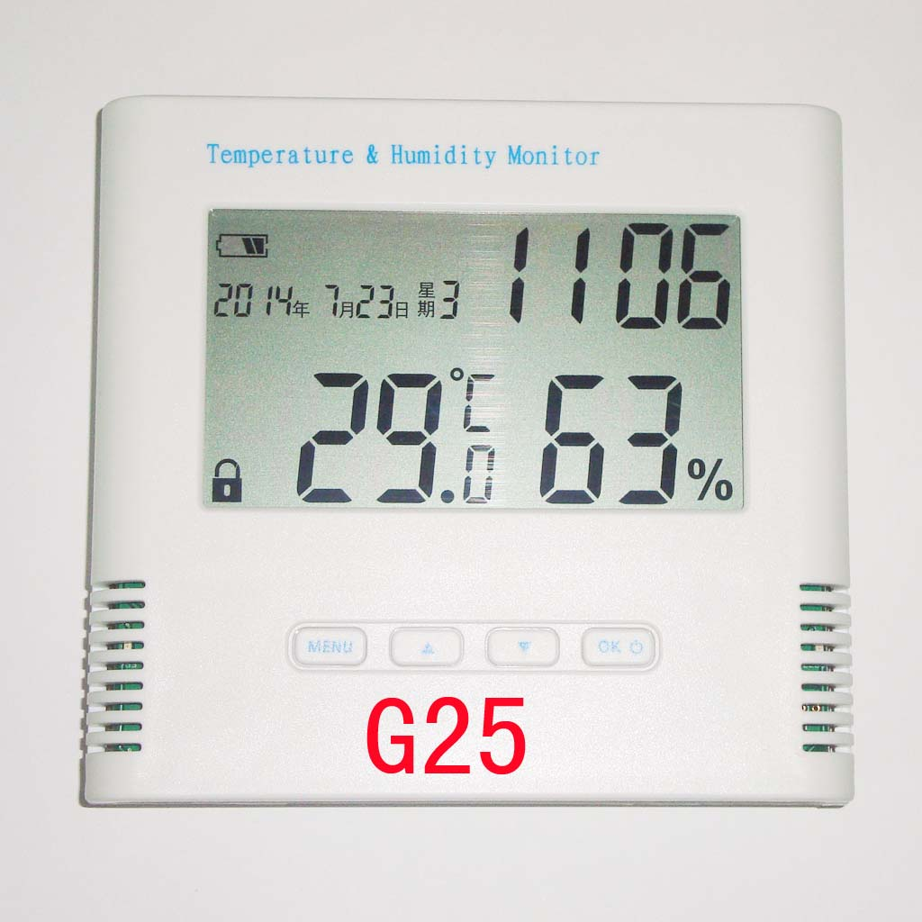 G25 GPRS monitor heating temperature cold storage room temperature and humidity monitoring alarm networking alarm messages digital indoor air quality carbon dioxide meter temperature rh humidity twa stel display 99 points made in taiwan co2 monitor