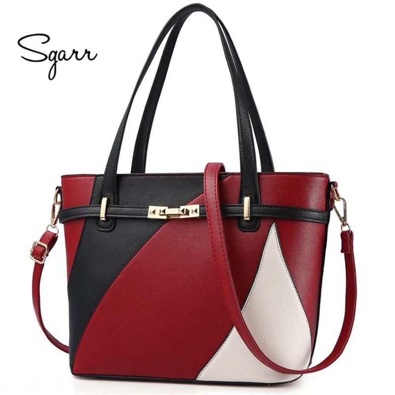 SGARR Party Handbag For Women Evening Ladies Big Capacity Clutch Shoulder Bags Wine Black Pink Zipper Fashion Leather Soft Bags sgarr red black grey brown women big tote handbag fashion large female purse ladies party hasp soft leather wine shoulder bags