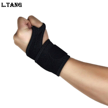 1 piece Black Breathable Wrist Support Winding Pressure Wristband Weight Training L498
