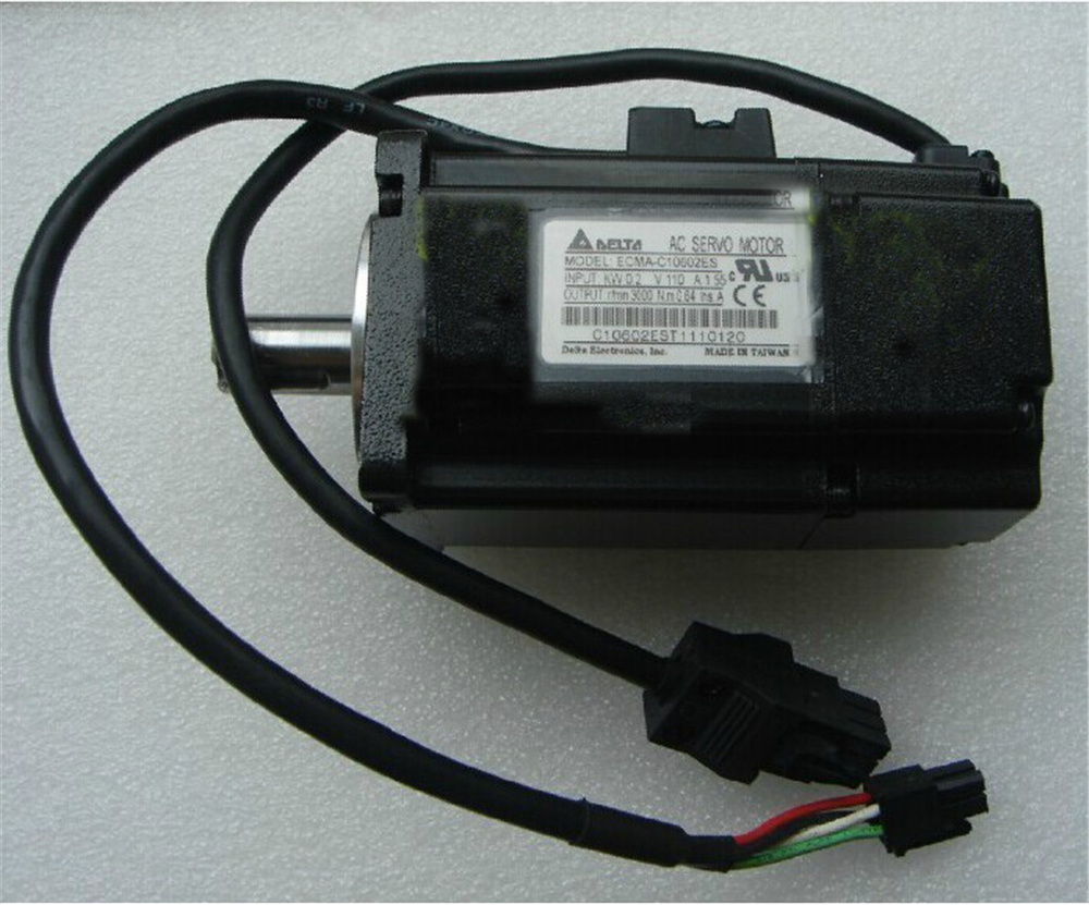 200W 60mm CNC Servo Motor ECMA-C10602ES Delta 220VAC A2 Series Servo Motor 3000rpm with Keyway New new original delta servo motor ecma c30604ps es 400w 60mm 220v 3000rpm
