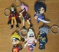 One Piece Naruto Figura Brinquedos Personagem de Anime Naruto Uzumaki Naruto Sasuke PVC Keychain Chaveiros Pingente Brinquedo 2 Lados